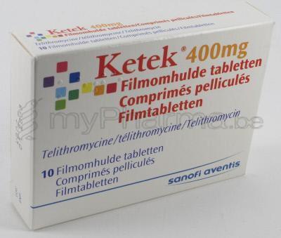 1. Telithromycin (Ketek): 1